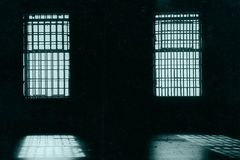 In prison. This is inside a dining room of an old prison Royalty Free Stock Image