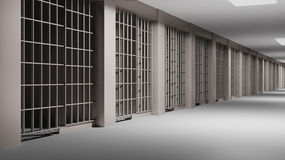 Prison interior Royalty Free Stock Photo