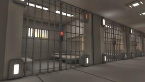 Prison intérieure futuriste Photos libres de droits