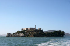 The Prison Island Alcatraz near San Francisco Stock Image