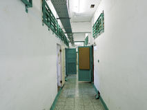 Prison jail corridor in Jing-Mei Human Rights Memorial and Cultu Royalty Free Stock Photography