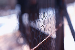 Prison jail fence background Royalty Free Stock Photos