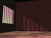 Prison jail by sunset - 3D render Stock Images