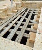 Prison of John the Baptist. Place of execution of John the Baptist in Machaerus (Mukawir) - Jordan royalty free stock image
