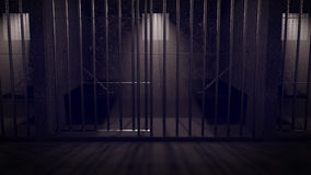 A prison at night Stock Image