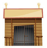 Prison room with sign on top Royalty Free Stock Images