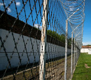 Prison security facilities Royalty Free Stock Image