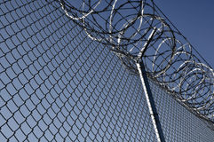 Prison Security Fence Royalty Free Stock Photography