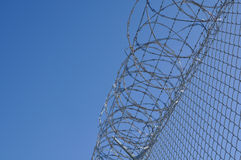Prison Security Fence Stock Photography