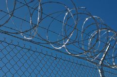 Prison Security Fence Stock Photo