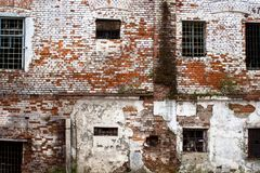 Prison in Siberia-an abandoned unrepaired building of the old prison in Tobolsk. Prison in Siberia – an abandoned unrepaired building of the old prison in stock image