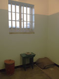 Prison single ward of Nelson Mandela. Robben Island. Royalty Free Stock Photos