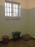 Prison single ward of Nelson Mandela. Robben Island. Royalty Free Stock Photos