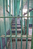 Prison stairwell with steel bars Stock Photography