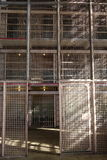 Prison: steel mesh cell screens Royalty Free Stock Photography