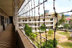Prison at Tuol Sleng Genocide Museum Royalty Free Stock Photo
