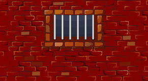 Prison wall. Prison brick wall with (vector available vector illustration