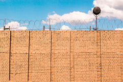 The prison wall Stock Image