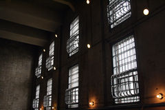 Prison Walls. View from inside a prison Stock Images
