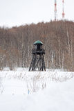 Prison Watch Tower. In the Winter royalty free stock photo