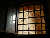 Prison Window. Window from the old prison at castle Spilberk, Brno Stock Photo