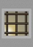 The prison window. Stock Image