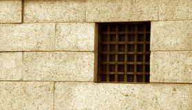 Prison window Royalty Free Stock Photography