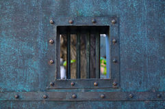 Prison window Stock Photo