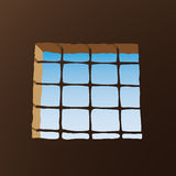 Prison window (vector). Symbolic image (cmyk to rgb Royalty Free Stock Photo