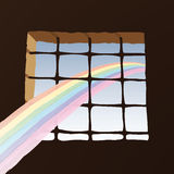 Prison window (vector). Symbolic image (cmyk to rgb Stock Photos