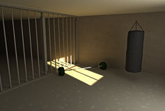 Prison workout Royalty Free Stock Photography