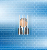 Prisoner. Concept of man feeling being a prisoner with copy space Stock Images