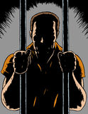 Prisoner. Drawing of a prisoner in a comic book format Royalty Free Stock Photo