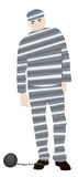 Prisoner. A standing unhappy prisoner with shains Royalty Free Stock Photos