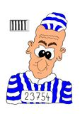 Prisoner. This illustration depicts a comic prisoner portrait Royalty Free Stock Photo