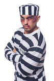 Prisoner with bad bruises Royalty Free Stock Images