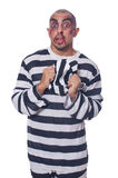 Prisoner with bad bruises Royalty Free Stock Image