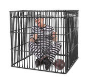 Prisoner in cage Royalty Free Stock Photo
