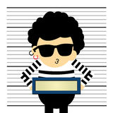 Prisoner  cartoon Royalty Free Stock Image