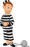 Prisoner cartoon Royalty Free Stock Photography