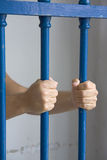 Prisoner in cell Royalty Free Stock Photo
