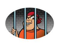 Prisoner grinning Stock Photography