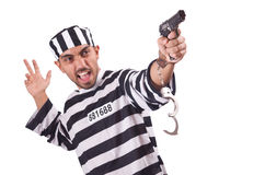 Prisoner with gun Stock Photography
