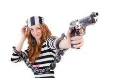 Prisoner with gun Stock Photos
