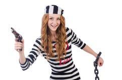 Prisoner with gun Stock Images