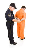 Prisoner Handcuffed by Policeman Royalty Free Stock Photo