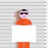 Prisoner identikit Royalty Free Stock Photos