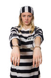 The prisoner isolated on the white background Stock Photos