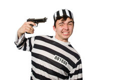 The prisoner isolated on the white background Stock Photography