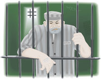 Prisoner in jail Stock Photography